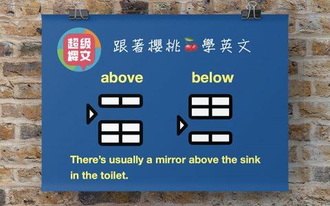 above below|台中英文家教|成人英文|用理解學英文